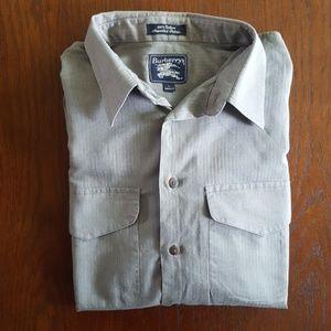 《 Burberry 》 Cotton Button Down Shirt